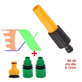 Picture of Bộ phụ kiện tưới cây V8N-4080, Vỉ vòi rửa xe 4 món dùng cho dây 8-11 mm, Vòi nhựa thẳng đa năng
