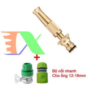 Picture of Bộ phụ kiện tưới cây, Rửa xe 3 món VPD-3013, Vòi tưới cây đồng VOI-6 + Nối nhanh 12-18 mm