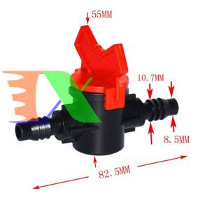 Ảnh của Van khóa TM-912A 2 đầu gân cho ống tưới 8/11 9/12 mm, Van khóa dây PE LDPE HDPE PVC