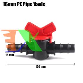 Ảnh của Van khóa TM-16A 2 đầu gân cho ống Φ16 mm, Van khóa ống PE LDPE HDPE PVC