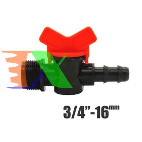 """Ảnh của Khởi thủy Van khóa TM-16C Ren 27 ra ống Φ16 mm, Van khóa dây PE LDPE HDPE PVC 3/4""""-16 mm"""