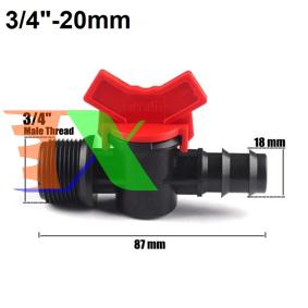 """Ảnh của Khởi thủy Van khóa TM-20C Ren 27 ra ống Φ20 mm, Van khóa dây PE LDPE HDPE PVC 3/4""""-20 mm"""