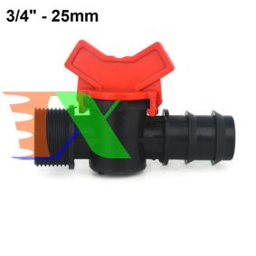 """Ảnh của Khởi thủy Van khóa TM-25C Ren 27 ra ống Φ25 mm, Van khóa dây PE LDPE HDPE PVC 3/4""""-25 mm"""