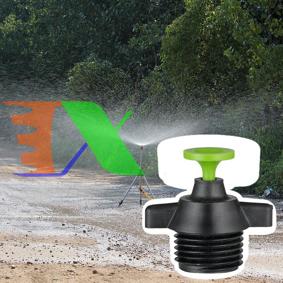 """Ảnh của Đầu tưới phun mưa TM-126A, Tưới xòe 360° chân ren 21 - 1/2"""", Tưới xòe mũ nhựa"""