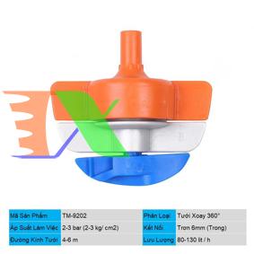 Ảnh của Đầu tưới xoay 360° Spinnet TM-9202, Chân cắm 6 mm trong, Béc tưới xoay tự động