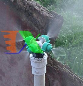 Ảnh của Béc tưới phun sương 4 đầu MT-3088C 32lit / h, Đầu phun sương Kèm phụ kiện, Tưới cây làm mát