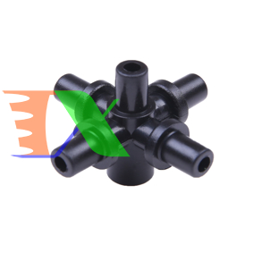 Picture of Đầu chia 5 trơn 6 mm ra 6 mm KT60.60, Khởi thủy chia 5 lắp béc tưới phun sương