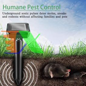 Picture of Dụng cụ rung đuổi chuột, Máy đuổi loài gặm nhấm trong đất MOU-MT Dùng Năng lượng mặt trời